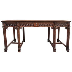 19th Century French Oak Desk in the Gothic Style