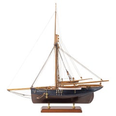Shipyard Model of a Gaff-Rigged Newhaven Smack