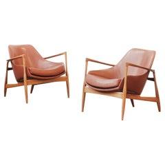 Pair of Danish Lounge Chairs by Ib Kofod Larsen, Denmark, 1960ies
