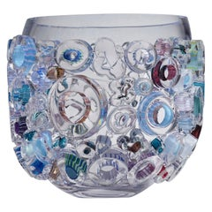 Little Common Ray Blue, a Blue & Clear Glass Centrepiece by Sabine Lintzen