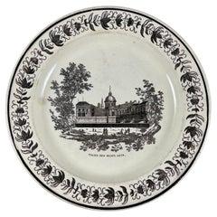 Creil Neoclassical French Creamware Palais des Beaux Arts Architecture Plate