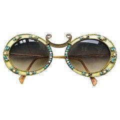 Christian Dior Rare Vintage Jewelled Fashion Sunglasses, 1960s