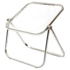 Clear Plona Chair by Giancarlo Piretti for Castelli, circa 1970, Italy