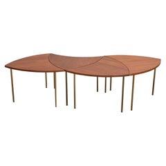 Peter Hvidt Teak Crescent Tables