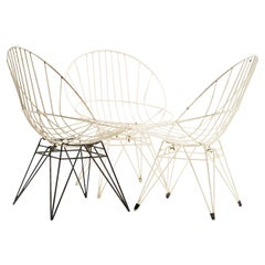 Set of Three Cees Braakman Combex Wire Chairs