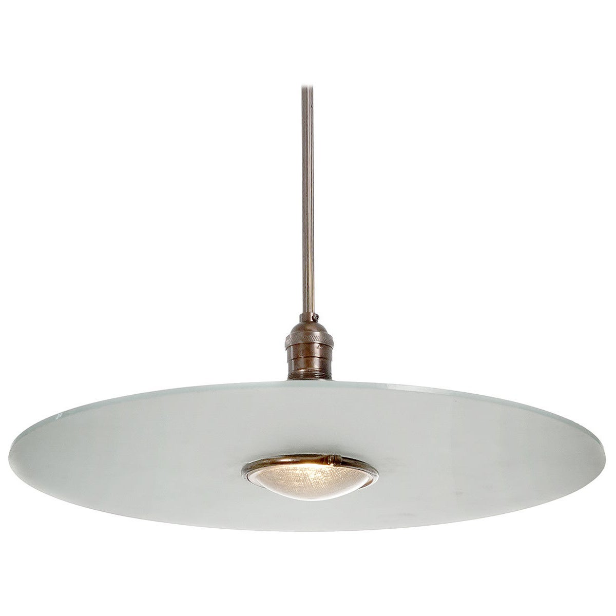 Simple and Elegant Frosted Glass Disc Pendent