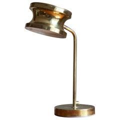 Tyringe Konsthantverk, Table Lamp, Brass, Sweden, 1970s
