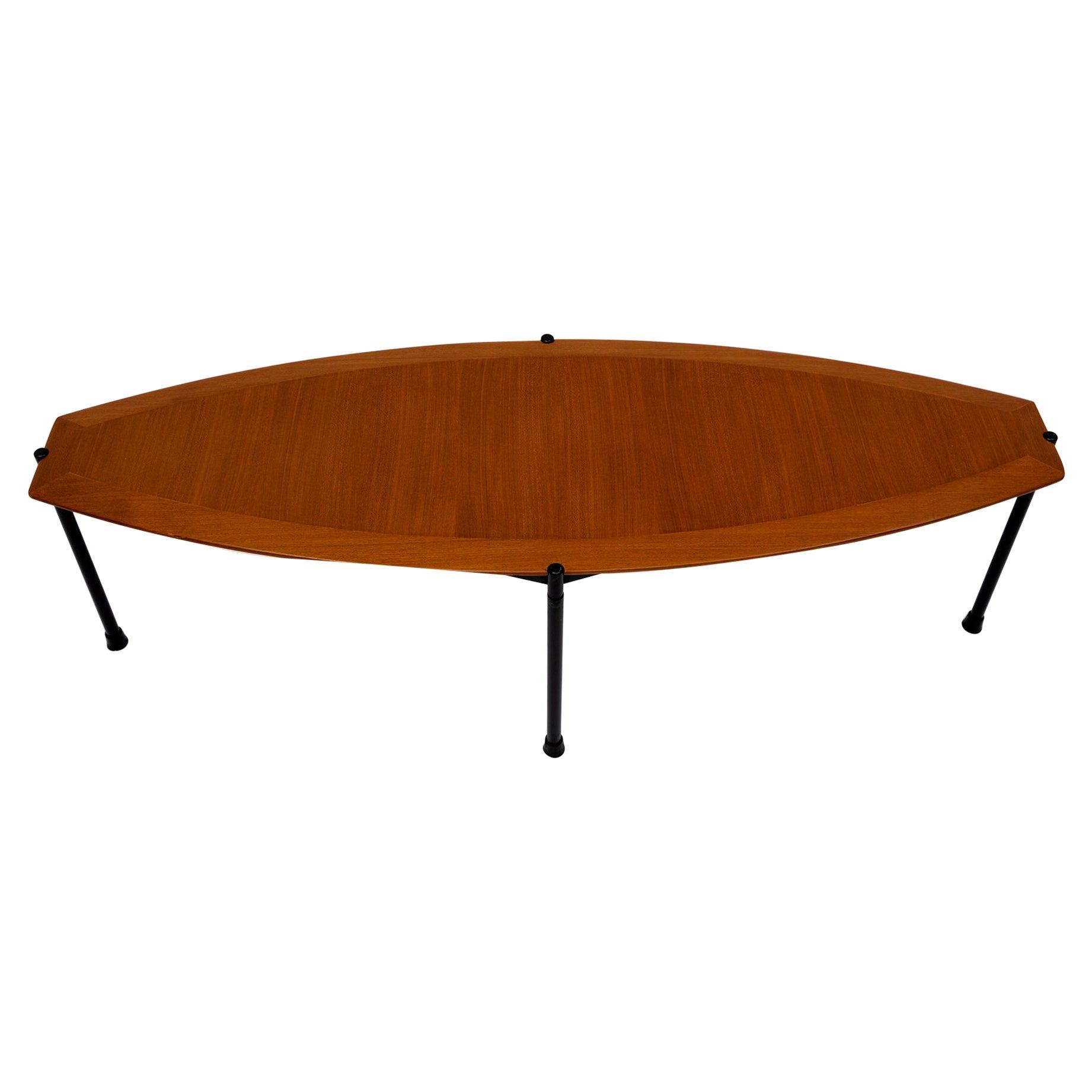 Mid-Century Modern Italian Surfboard Coffee Table, 1970s