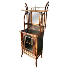 19th Century English Bamboo Japonisme Side Cabinet/ Bookcase