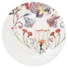 Grandma's Garden, Contemporary Porcelain Dinner Plates with Floral Design