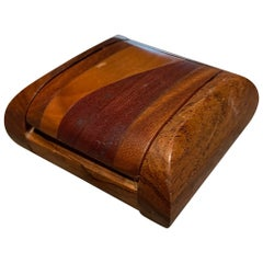 Don Shoemaker Modern Cocobolo Secret Keepsake Small Wood Box 1970s Mexico