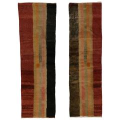 Pair of Mid-Century Modern Turkish Tulu Shag Runners
