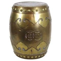Asian Modern Style Brass Garden Stool