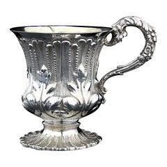 Antique Georgian Sterling Silver Mug, London 1835, Thomas Edwards