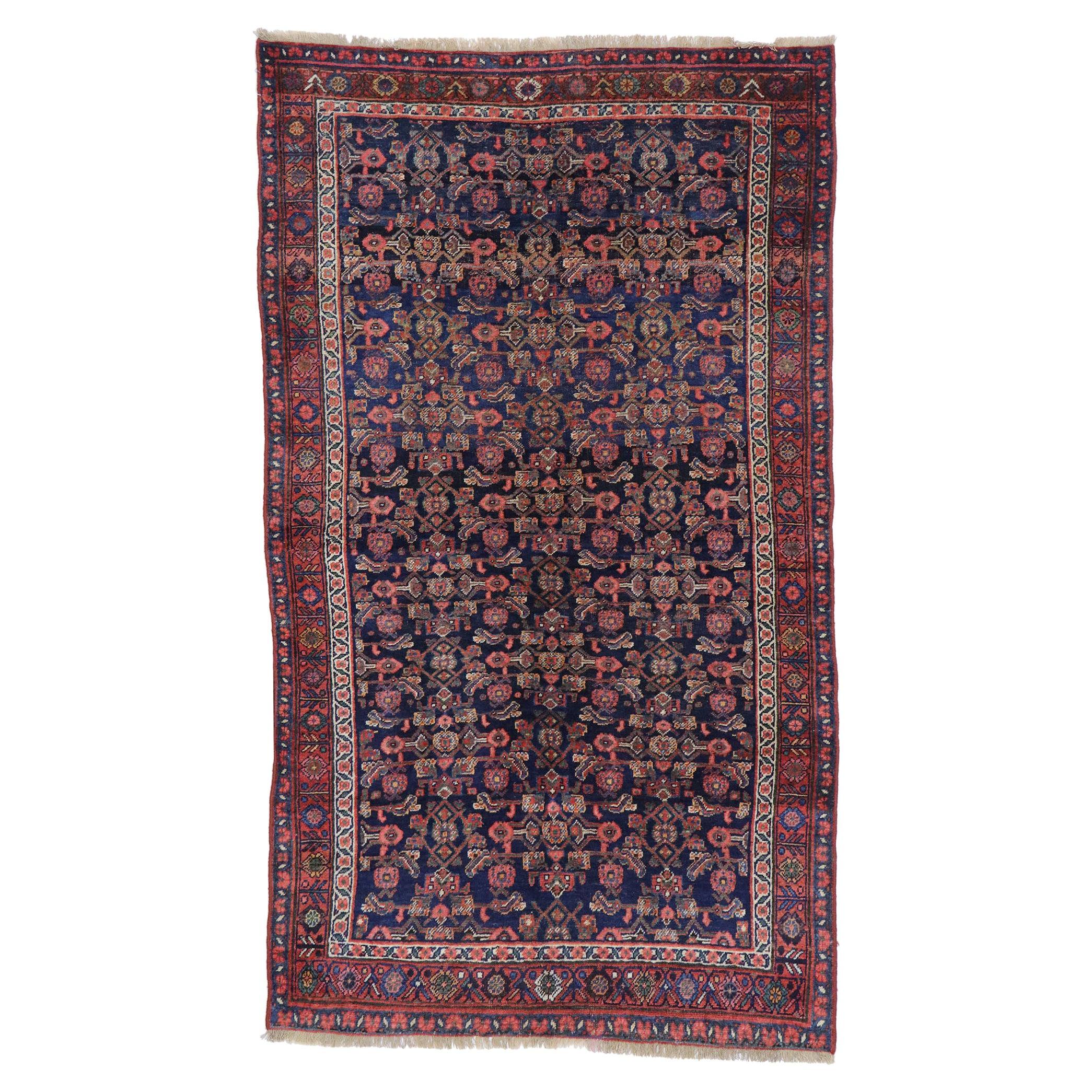 Antique Persian Bijar Rug with Victorian Style