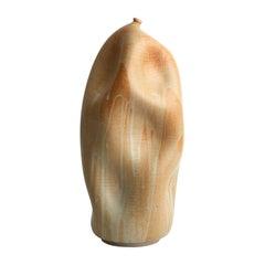 Skoby Joe Round Sand Cream Ceramic Vase Wabi Sabi Mid-Century Modern Sculpture