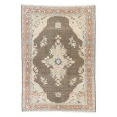 Distressed Vintage Persian Viss Rug with Rustic Farmhouse Style