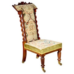Antique Slipper Chair, English Victorian, Early 19th Century