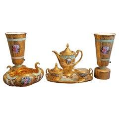 Le Mieux 7 Piece 24kt Gold Porcelain Set