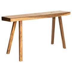 Vintage Rustic Slab Wood Console Table