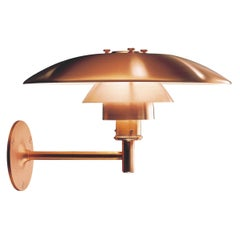 Large Poul Henningsen 'PH Wall' Outdoor Sconce for Louis Poulsen in Raw Copper