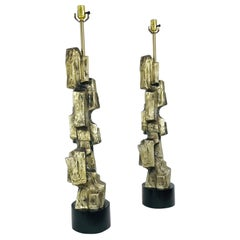 Pair of Brutalist Lamps by Laurel