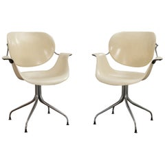 Pair of George Nelson for Herman Miller DAF Swag Leg Chairs