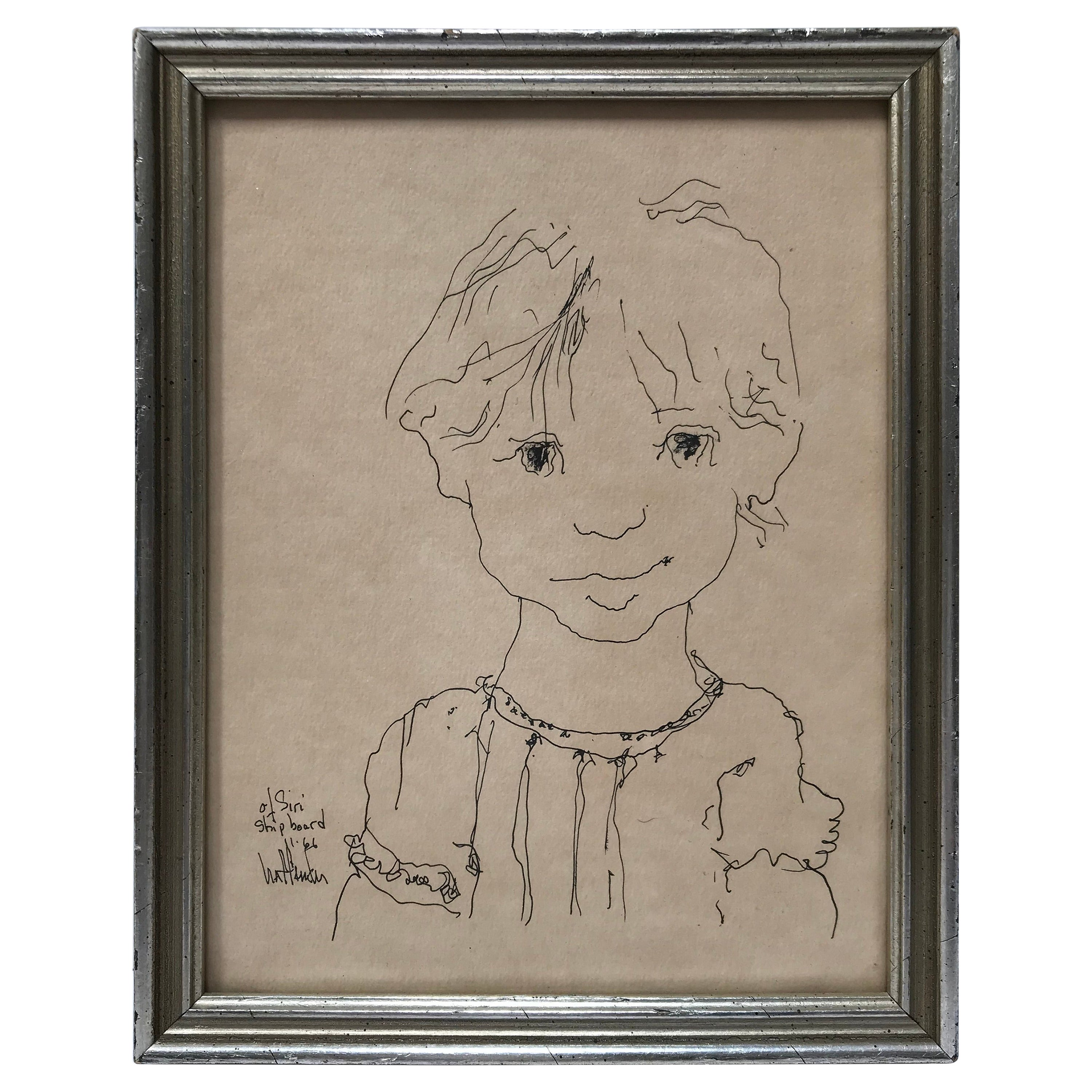 Little Girl Portrait Drawing by Gino Hollander