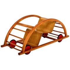 Vintage Schaukelwagen Swing and Race Car Toy, Midcentury