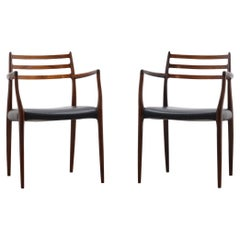 Set of 2 Model 62 Rosewood Dining Chairs by Niels Otto Møller