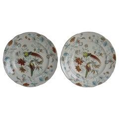 Pair of Georgian Davenport Ironstone Desert Plates Rare Pattern 85, Circa 1820