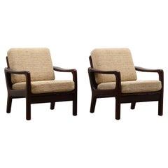 Set of 2 Arm Chairs by Juul Kristensen for JK, Denmark, 60s