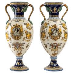 Pair of Vases, Gien Earthenware