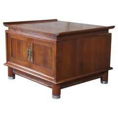 Mid Century Willett Solid Cherry Side End Table TV Console Cabinet Ming Asian