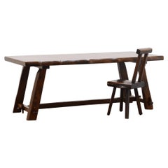 Brutalist Dining Table by Olavi Hänninen for Mikko Nupponen