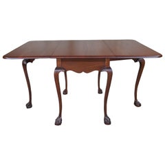 20th Century Chippendale Mahogany Ball & Claw Drop Leaf Gateleg Dining Table