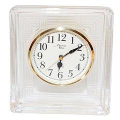 Christian Dior Vintage Glass Desk Clock