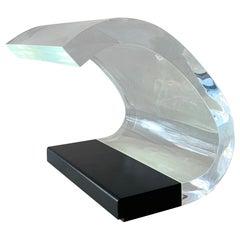 """Mid-Century Plexiglass Table Lamp Model ''Acrilica"""" by Joe Colombo, Italy, 1960s"""