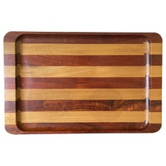 Large Exotic Mixed Wood Tray by Don Shoemaker