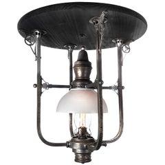 Very Rare 1800s Railroad Dining Car Center Lamp