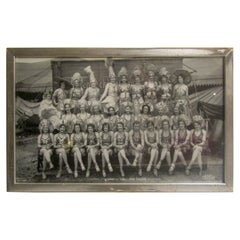 Photograph 1933 Black and White Hagenbeck Wallace Circus Girls in Bronx NY