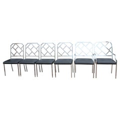 Six Chrome Dining Chairs by Milo Baughman for Design Institute of America 'DIA'