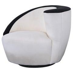 Nautilus Swivel Chair by Vladimir Kagan for Weiman, 1990s
