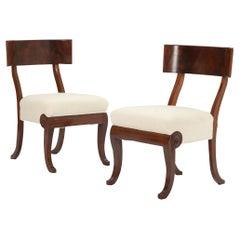 Art Nouveau Mahogany Klismos Chairs, c.1920, Denmark