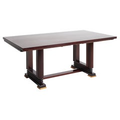 Art Deco Mahogany Extending Dining Table by Gauthier Poinsignon
