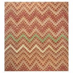 Doris Leslie Blau Collection Modern Tribal Geometric Silk, Wool Rug