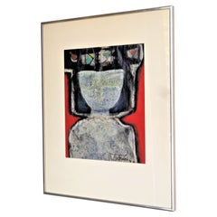 Abstract Modernist Painting by Alfonsas Dargis