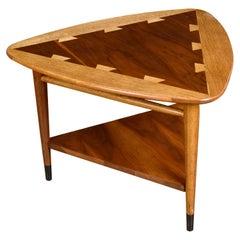 Mid-Century Modern Decorative Dovetail Lane Acclaim Guitar Pick Side Table