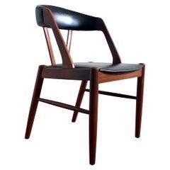 1960's Kai Kristiansen Style Midcentury Teak and Black Chair