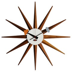 "George Nelson & Associates "" Spike "" Wall Clock, Model 2202B, circa 1952"